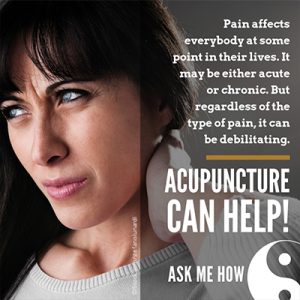 pain relief with acupuncture